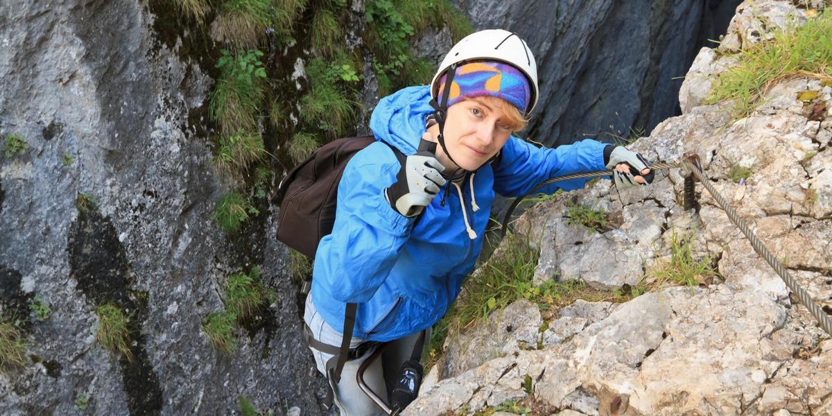 Illustasjonsfoto: Kvinnelig klatrer