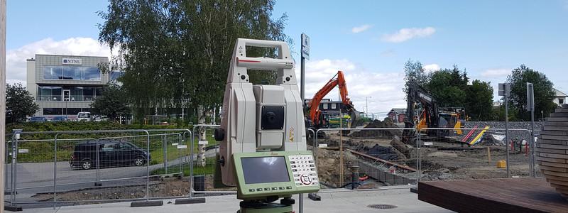 Landmåling ved Campus Gjøvik