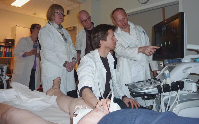 Fra en ultralydundersøkelse av lyske ved Aker sykehus